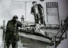 中共酷刑示意图:长期绑床并电击